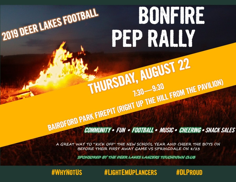 FLYER - Touchdown Club Bonfire and Pep Rally